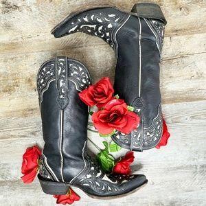 Ariat Women's Presidio Cowboy Boots Black Leather